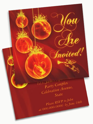 Christmas Party Invitation Cards To Personalize And Send T