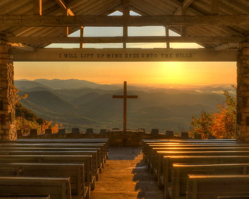 mountains church sunrise landscape nikon worship cross southcarolina chapel hdr circularpolarizer photomatix tonemapped ymcacampgreenville prettyplacechapel nikond90 fredwsymmeschapel