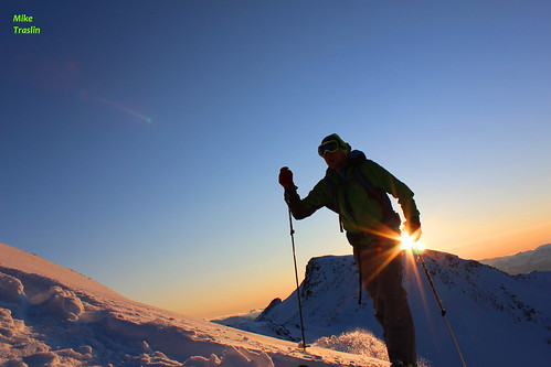 Sun, 2011-11-06 05:08 - Solar Power..  Photo Mike Traslin...skier Andy T..