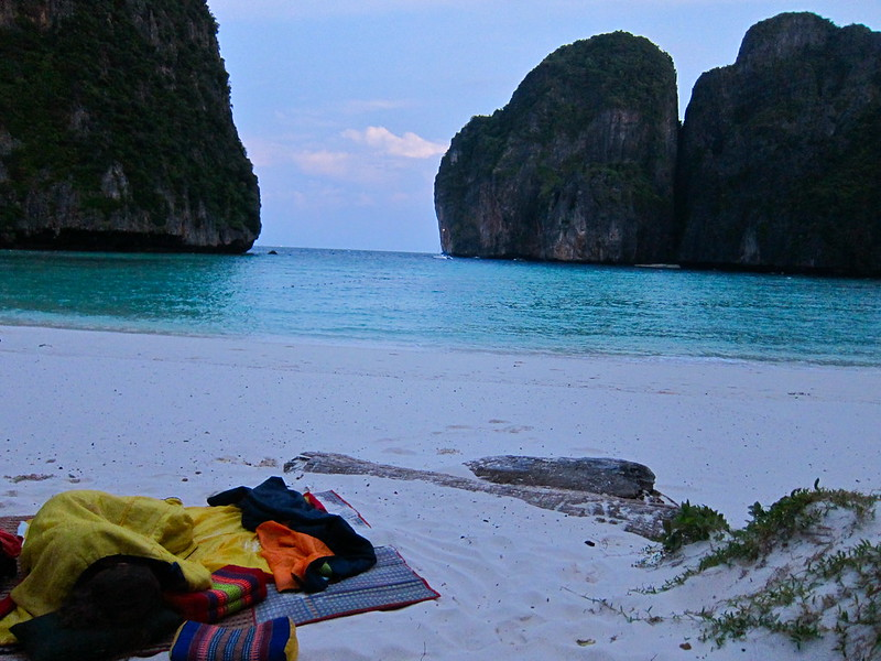 Campsite at dawn, Koh Phi Phi Leh