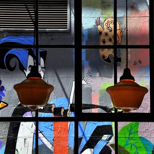window restaurant artwork interior movida melbourne inside framing hosierlane havinglunch steffentuck