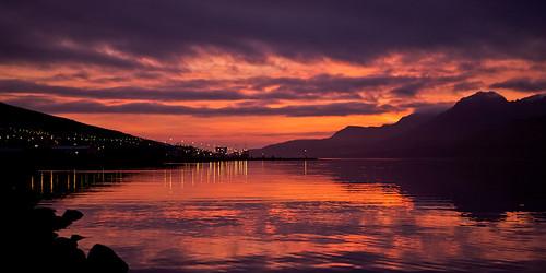 morning sky reflection clouds sunrise iceland village ísland ský himinn speglun morgunn sólarupprás fáskrúðsfjörður faskrudsfjordur þorp jónínaguðrúnóskarsdóttir