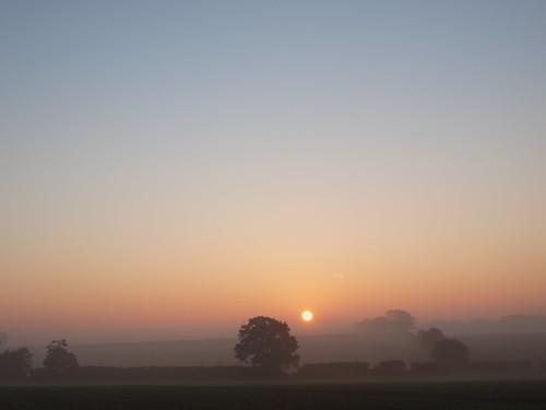 sunrise countryside norfolk british
