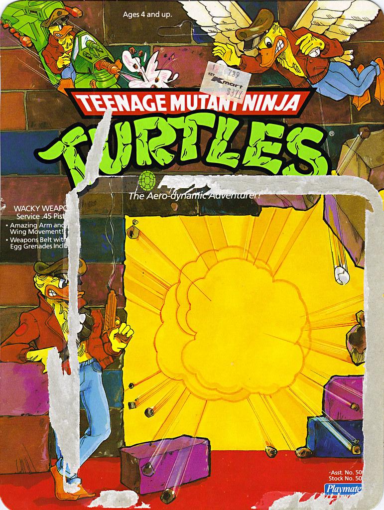 TEENAGE MUTANT NINJA TURTLES :: ACE DUCK  .. card backer i (( 1989 )) by tOkKa