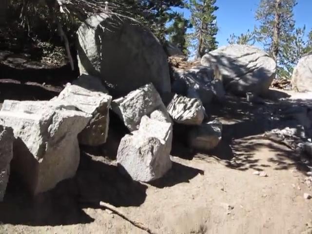 0989 Fuller Ridge Trail - new trail - CCC stone yard