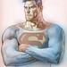 Superman in pencil