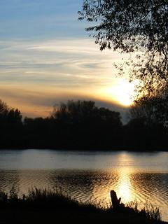 Sonnenuntergang am Ölper See