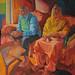 Mr & Mrs Sanghera; 120x151cm, Oil on canvas