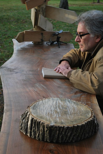 David Robbins reading at his 'Open-Air Writing Desk'