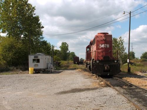 indiana ohio railway delta yard canandian pacific emd sd402 nrex nrex5678
