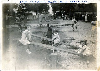 Children on seesaws at Granite City 25 Year Club picnic, 1932 | by Six Miles of Local History