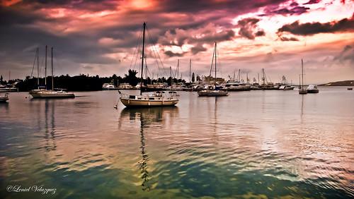 sunset art beach water beautiful clouds landscape boats harbor pier ship photographer puertorico ponce lightroom
