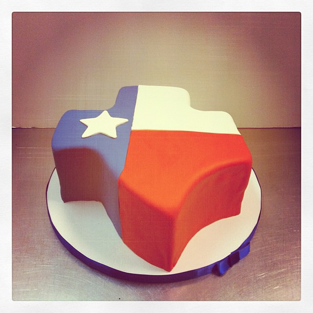 Brilliant Texas State Birthday Cake Polkadots Olga Flickr Personalised Birthday Cards Veneteletsinfo