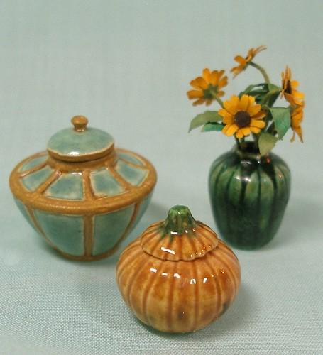 Covered Jars and Leaf Vase | by mostlyart