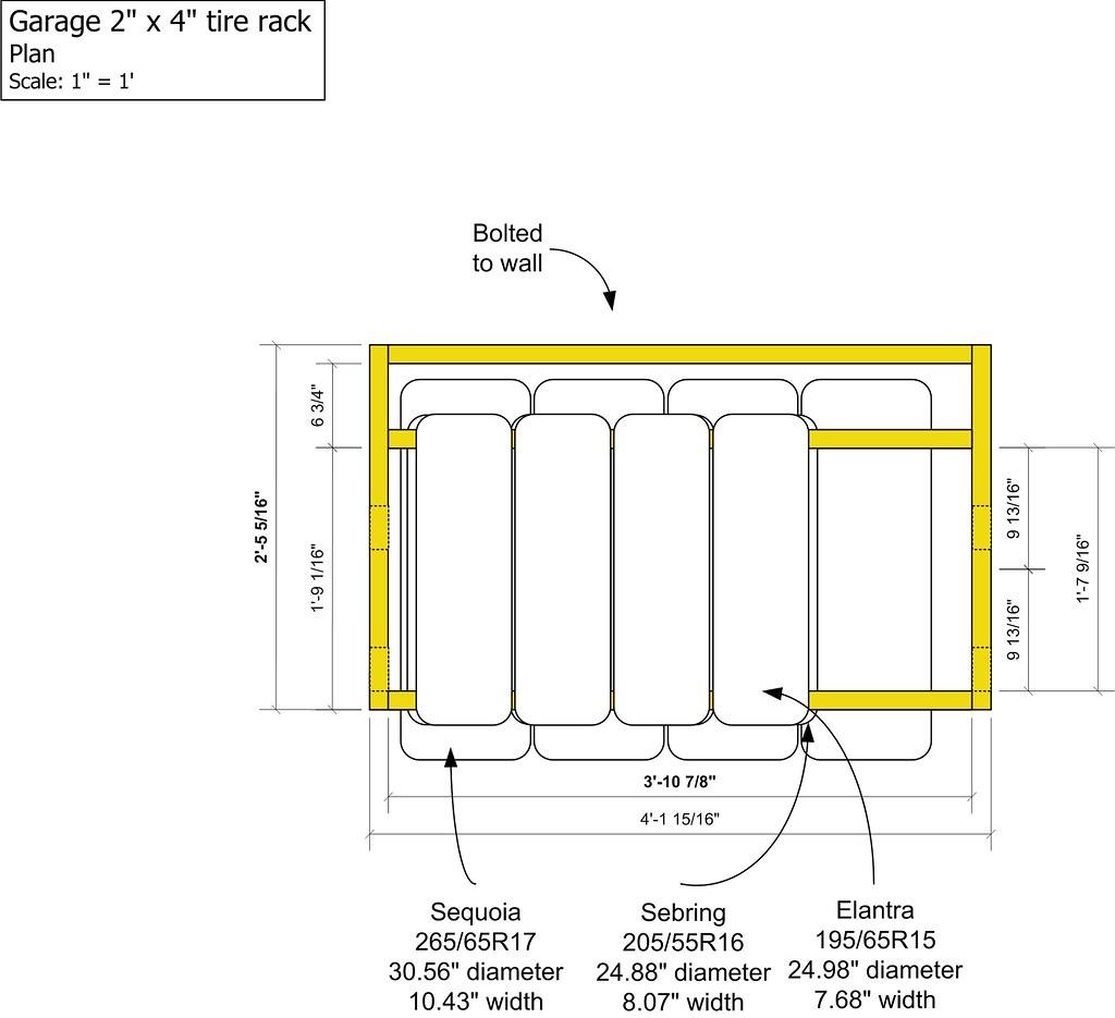 Garage 2x4 Tire Rack Plan Jd And Beastlet Flickr