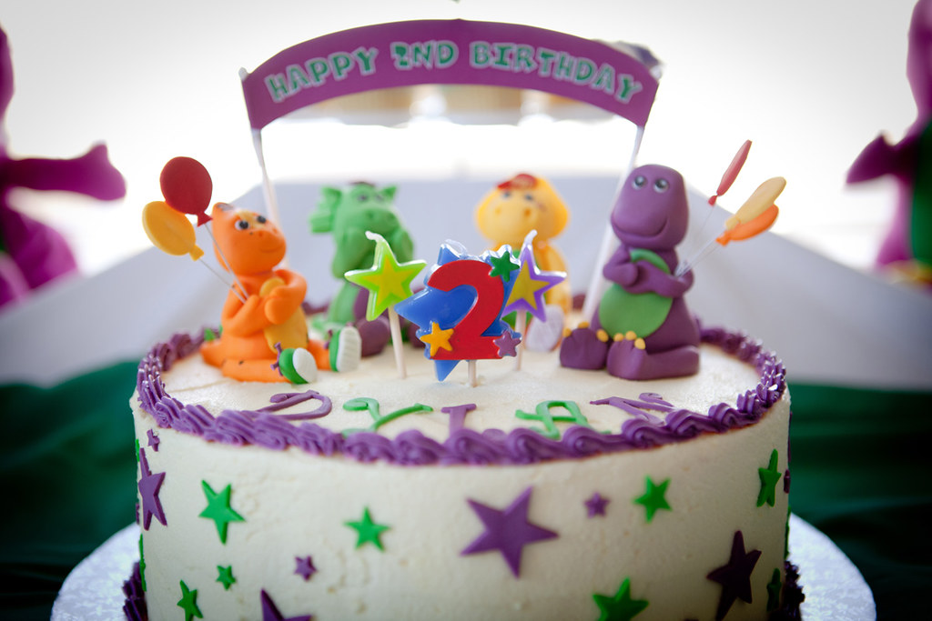 Cool Barney Birthday Cake Jtellse Flickr Funny Birthday Cards Online Necthendildamsfinfo