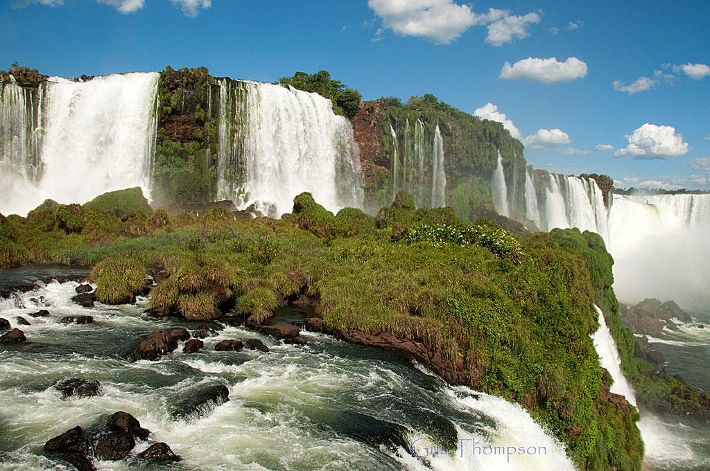 A ground view of Iguacu Falls (Brazilian side)