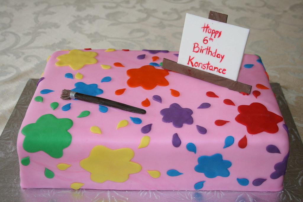 Prime Paint Splatter Birthday Cake Sia Karageorgos Flickr Personalised Birthday Cards Sponlily Jamesorg