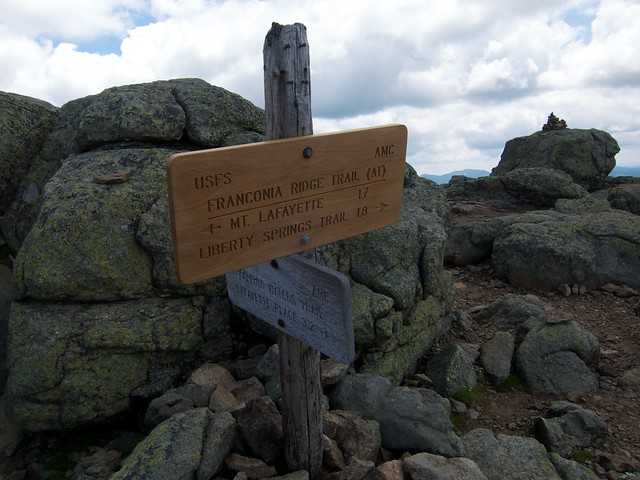2:28:33 (41%): sign hiking newhampshire whitemountains franconianotch mtlafayette fallingwaterstrail mtlincoln franconiarange