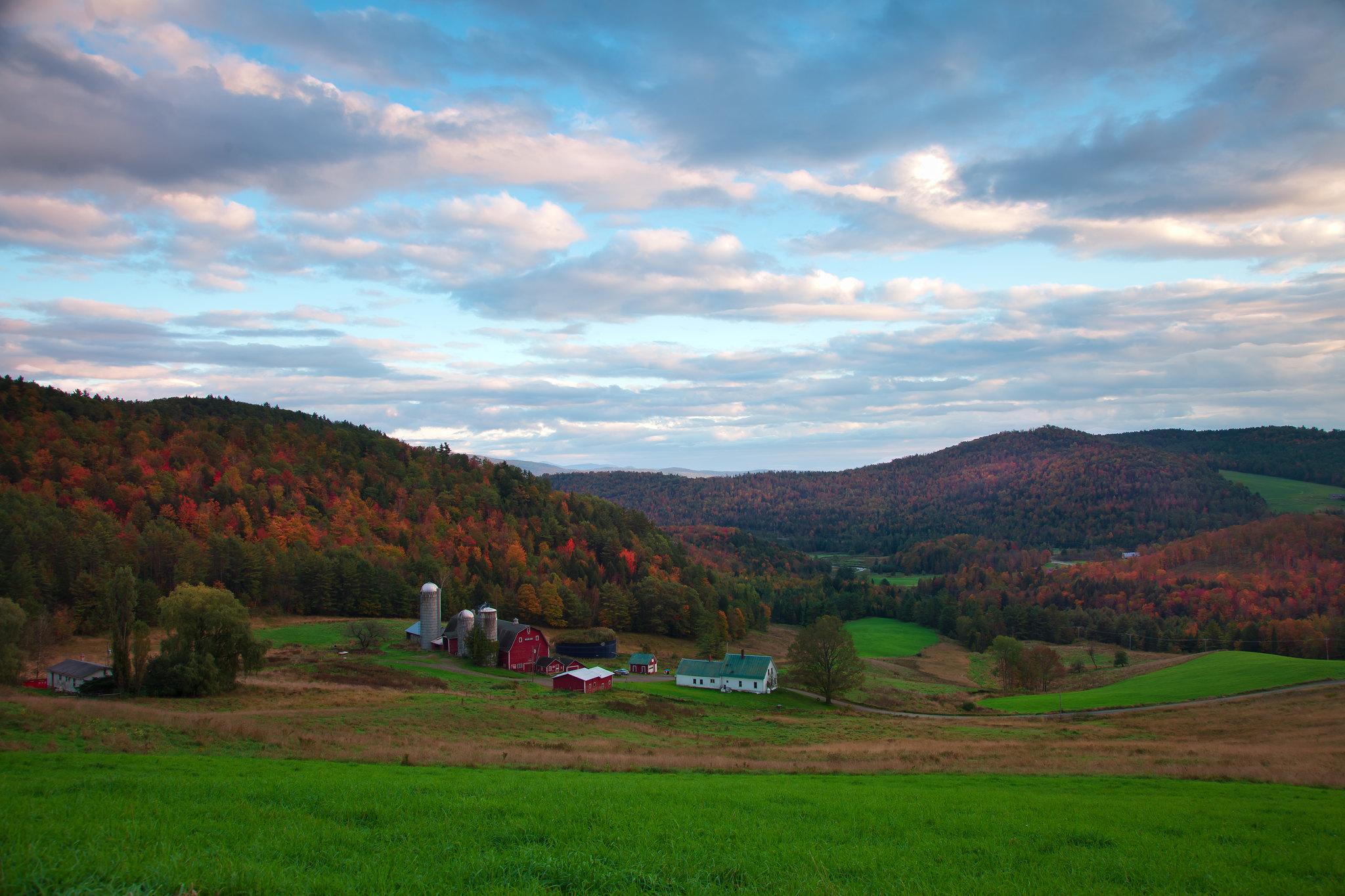 'Fall Time', Vermont, Danville Area, Barnet Center Road, Countryside, Farm