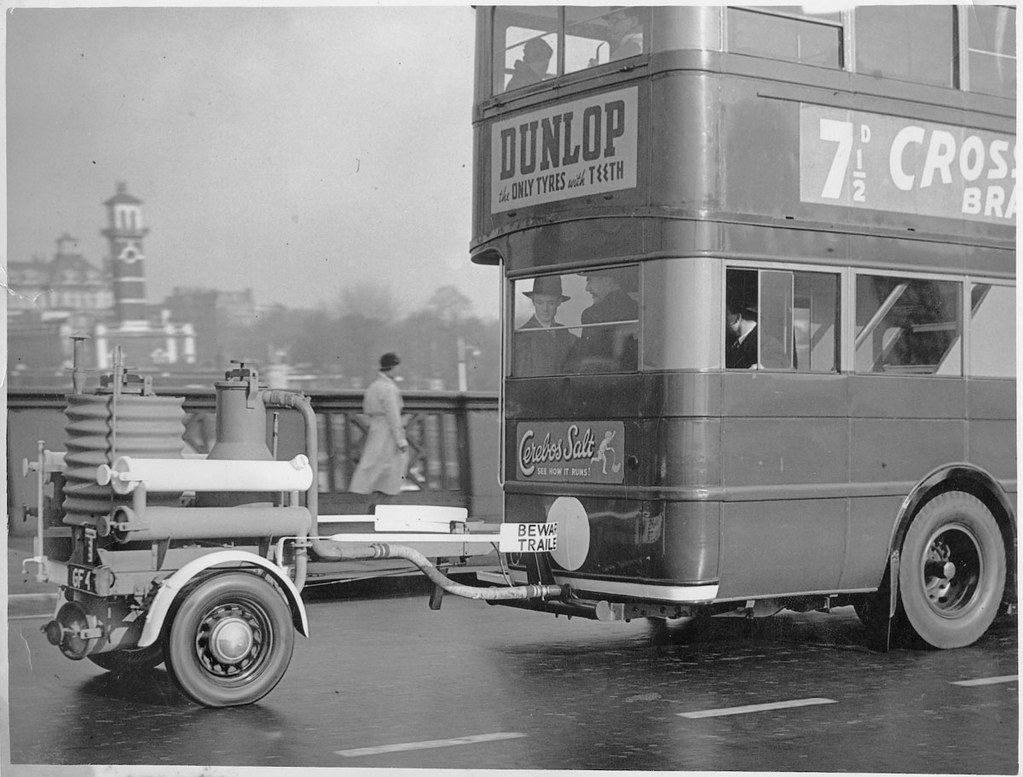 Wood Gas Generator >> Bus In London With Wood Gas Generator Flickr Photo Sharing