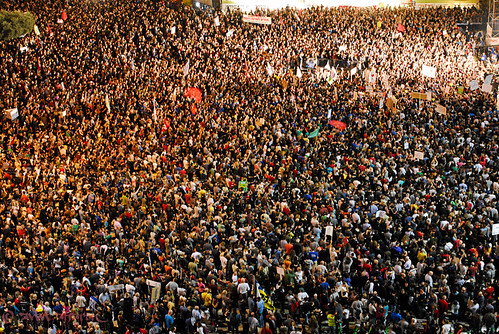 70,000 people on Israeli social justice protests Rabin Square Tel aviv 29 october 2011 | by `avivi