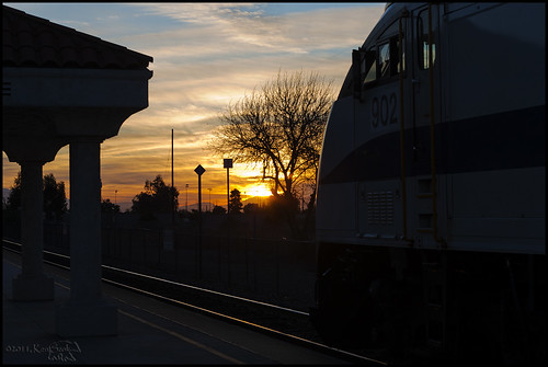 california railroad backlight sunrise canon outdoors socal transportation 5d canon5d metrolink canondslr commutertrain upland inlandempire passengertrains alltrains travelbytrain alltypesoftransport aphotographersnature kenszok