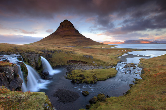 Iceland - Pyramid Mountain Waterfall (Kirkjufellfoss)