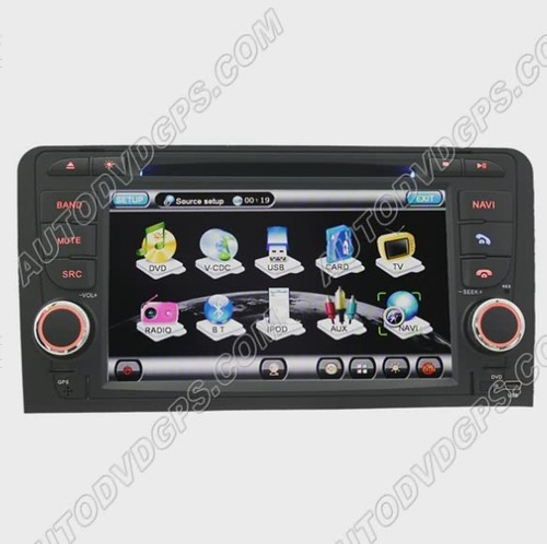 """Audi A3 DVD GPS Navigation player with 7"""" Digital Touchscreen / PIP RDS Bluetooth reviews"""