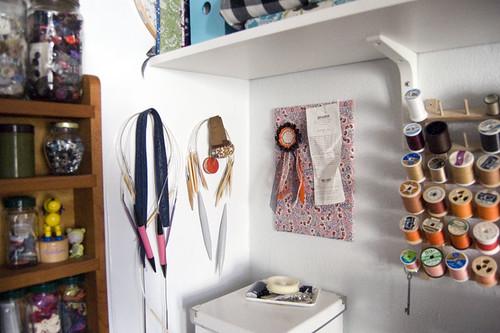 an organized craft room | by bluishorange