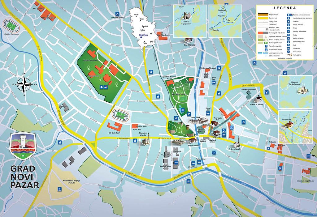 Novi Pazar Mapa Sejatino Flickr