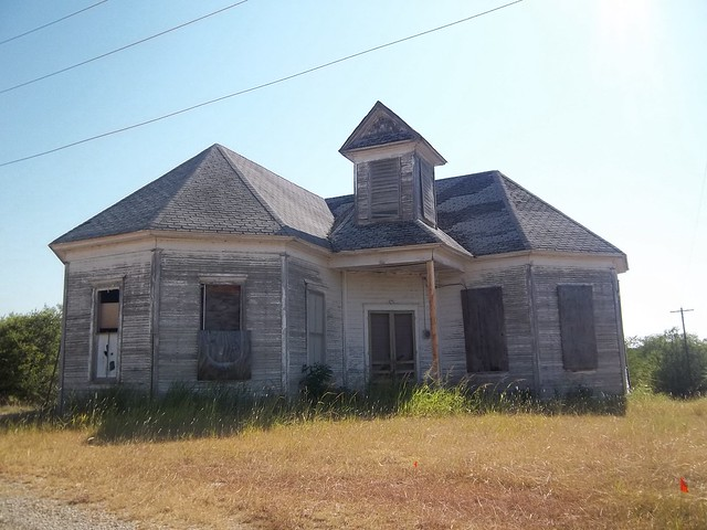 Abandoned Building, Mingus, Texas