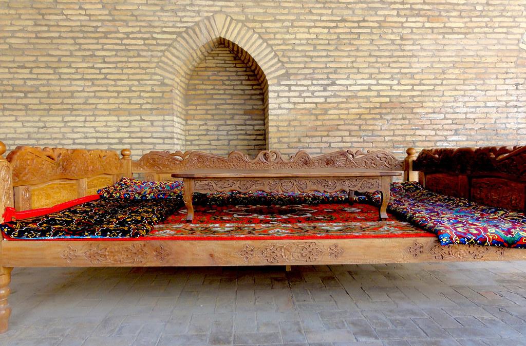 hand-carved khantakhta table