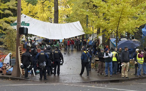 Police clear out the Occupy Portland camp   by airosche5