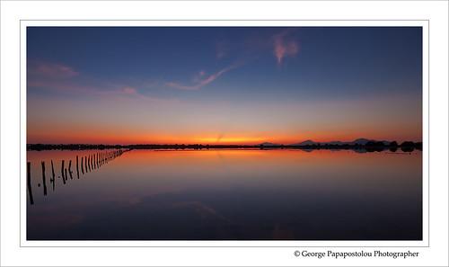 travel blue sunset lake nature colors landscape island kos greece