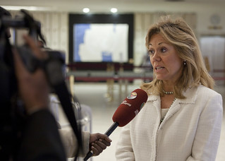 Ambassador Eileen Chamberlain Donahoe Speaks With Reporters | by US Mission Geneva