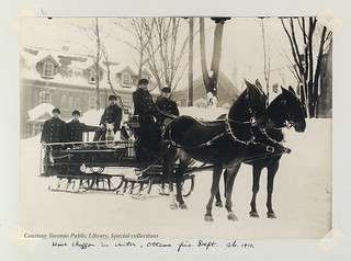 Hose Waggon in Winter, Ottawa Fire Dept.