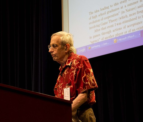 John Nash Lecturing | by red_cornet