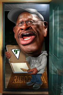 Pizza man's here! . . . Herman Cain - Cartoon | by DonkeyHotey