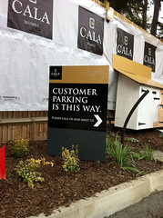 Site directional sign