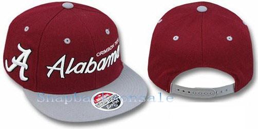 6718b939 ... NCAA Zephyr - Alabama Crimson Tide Snapback Hats 2t Headliner Burgundy  Grey | by Snapbacks