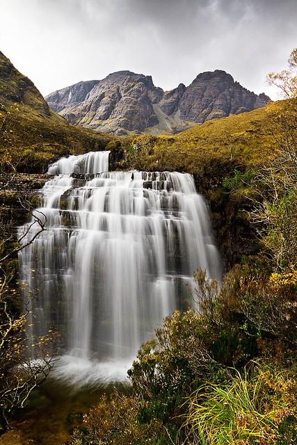 Bla Bheinn Waterfall on the Allt na Dunaiche