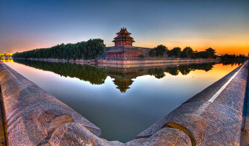 china sunset water architecture river ancient asia ngc beijing landmark hdr emperor