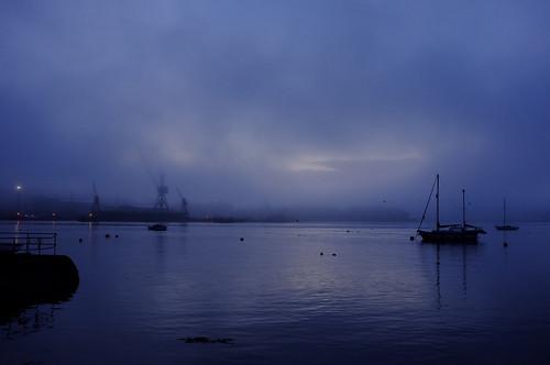 fog sunrise cobh dockyard x100 corkharbour