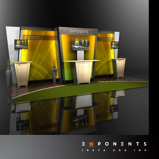 Trade show Modular Booth from Exponents | by ExponentsUSA