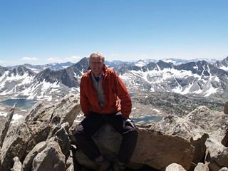 1167 Me on the Sierra Crest west of Bishop Pass looking down into Dusy Basin | by _JFR_