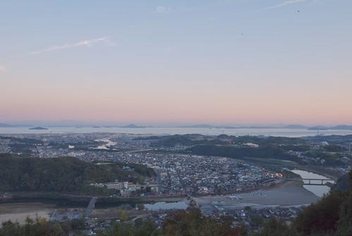 sunset sea japan landscape