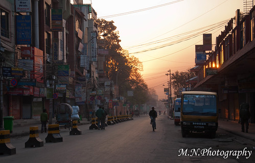 street nepal sunrise kathmandu רחוב זריחה