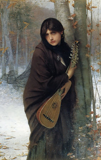 Jules Joseph Lefebvre (1836-1911), A gypsy girl with a ma