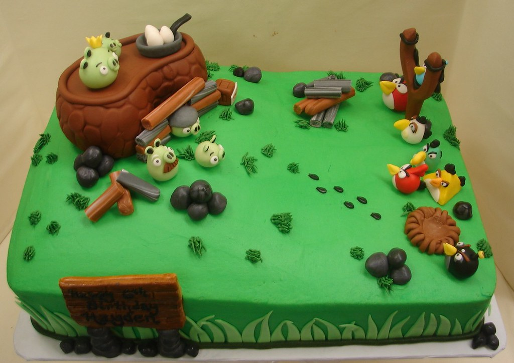 Fine Angry Birds Birthday Cake Angry Birds Birthday Cake This Flickr Funny Birthday Cards Online Sheoxdamsfinfo